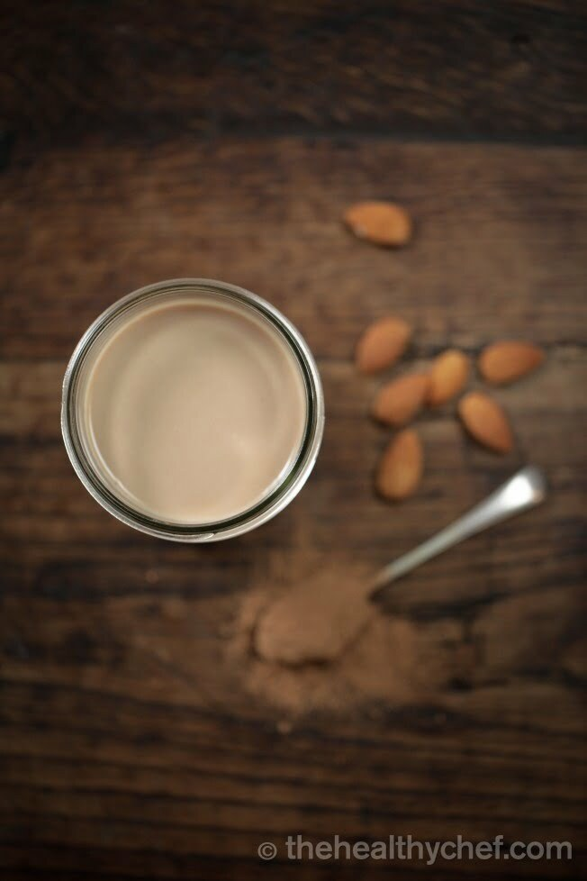 Healthy Chef's Teresa Cutter Chocolate Almond Mylk recipe