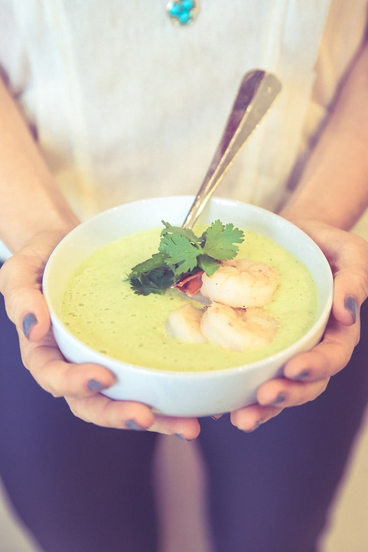 Spicy Prawn & Avocado Summer Soup