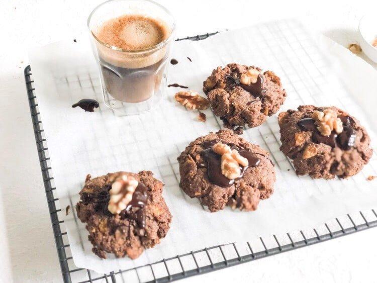 Healthy Afghan biscuits – gluten, dairy + sugar free