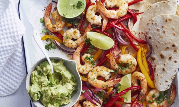 Easy One-Tray Prawn Tacos