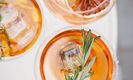 A healthy champagne spritz to that makes your skin glow?